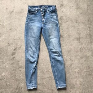 American Eagle Next Level Stretch Button Jeans